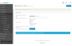 Модуль Import YML Opencart 2